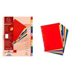 Regiszter PP Exacompta A/4 12 részes színes