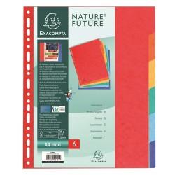 Elválasztólap karton Exacompta A/4 maxi 6 részes színes
