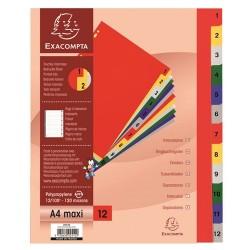 Regiszter PP Exacompta 12 részes színes maxi