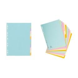 Elválasztólap karton Exacompta A/4 12 részes színes 170 g