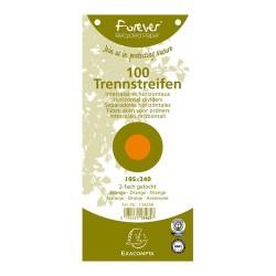 Elválasztócsík karton Exacompta 105x240 mm narancssárga 100 db/csomag