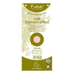 Elválasztócsík karton Exacompta 105x240 mm rózsaszín 100 db/csomag