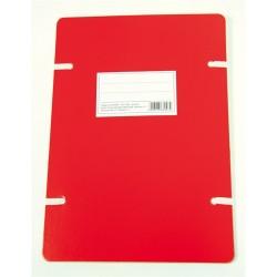 Szalagos irományfedél A/4 1050g piros