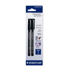 Marker Staedtler Lumocolor permanent F fekete Promo 2 db-os bliszteres