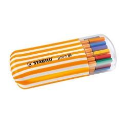 Tűfilc Stabilo Point 88 Zebrui 0.4 mm 20 db-os klt. műanyag ovális csíkos dobozban