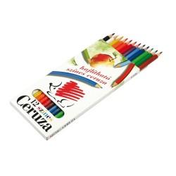 Színes ceruza Ico Süni hajlékony 12 db-os klt.