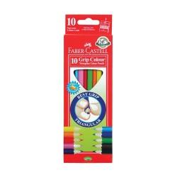 Színes ceruza Faber-Castell Junior háromszögletű 10 db-os klt.