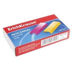 Tűzőkapocs ErichKrause 24/6 1000 db/doboz színes