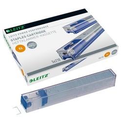 Tűzőkapocspatron Leitz K6 kék 5x210 db/doboz 55910000