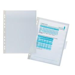 Irattartó mappa Durable PVC A/4 lefűzhető jelölőfüllel áttetsző
