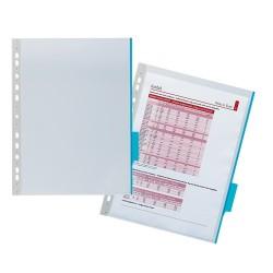 Bemutatótábla Durable Function A/4 PVC áttetsző, kék jelölőfüllel