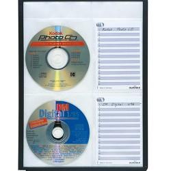 Bemutatótábla CD tároló Durable Sherpa 4 db-os PP fekete