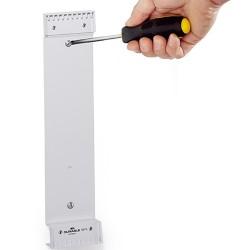 Bemutatótábla-tartó Durable Function fali 10 db tábla rögzítésére tábla nélkül szürke