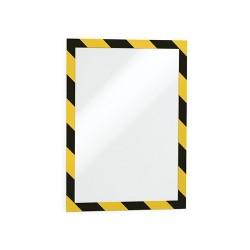 Információs tábla Durable Duraframe Security A/4 öntapadó hátlappal és mágneses kerettel sárga-fek