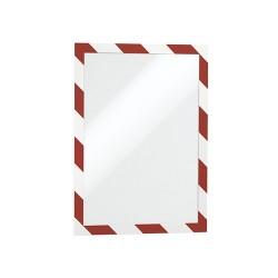 Információs tábla Durable Duraframe Security A/4 öntapadó hátlappal és mágneses kerettel piros-feh