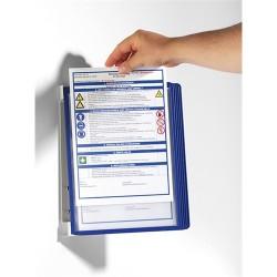 Bemutatótábla-tartó Durable Vario fali 5 db-os táblával kék