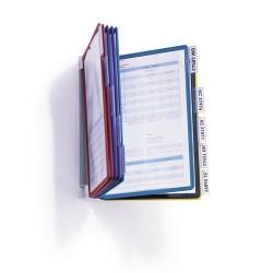 Bemutatótábla-tartó Durable Vario fali 10 db-os táblával szürke