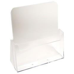Prospektustartó Exacompta/Multiform 8.5x23.5x24.7 cm asztali 1 rekeszes áttetsző