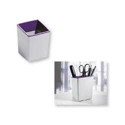 Írószertartó Durable Varicolor asztali 100x79x79 mm szürke-lila