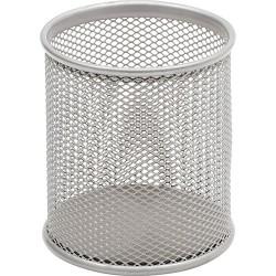 Írószertartó Sakota fémhálós 9 cm kerek ezüst DKL1759