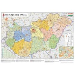 Könyöklő Stiefel 66x45 cm Magyarország Közig. járástérkép/autótérkép