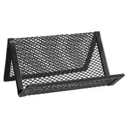 Névjegykártyatartó ErichKrause 98x72x45 mm saját névjegyeknek fémhálós asztali fekete