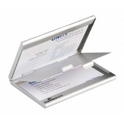 Névjegykártyatartó Durable 90x55 mm saját névjegyeknek kétrészes ezüst