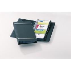 Névjegykártyatartó Durable Visifix 145x255 mm 200 db-os 4 gyűrűs regiszteres antracit