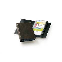 Névjegykártyatartó Durable Visifix 145x255 mm 200 db-os 4 gyűrűs regiszteres barna