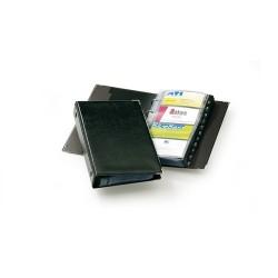 Névjegykártyatartó Durable Visifix 145x255 mm 200 db-os 4 gyűrűs regiszteres fekete