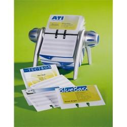 Névjegykártyatartó Durable Visifix Flip forgatható asztali 400 db-os regiszterrel ezüst/kék