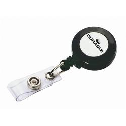 Névkitűző tartó Durable műanyag patentos kihúzható 85 cm fekete