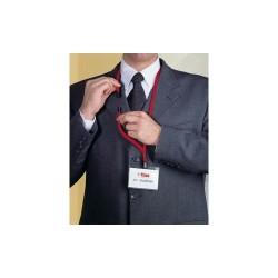 Névkitűző textilszalag Durable 44 cm csíptetővel piros