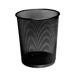 Papírkosár Deli fémhálós fekete HY65001-B