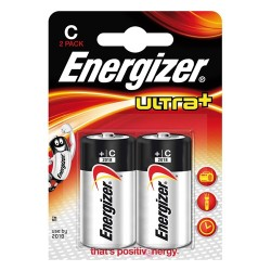Elem Energizer Ultra+ alkáli LR14 C baby 2 db/csomag