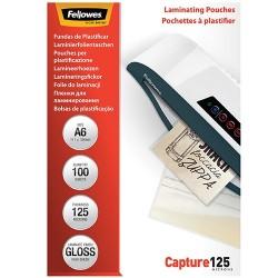 Lamináló fólia Fellowes 154x111 mm 125 mic. 100 lap/csomag