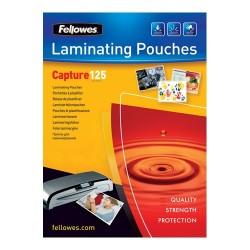 Lamináló fólia Fellowes 65x95 mm 125 mic. 100 lap/csomag
