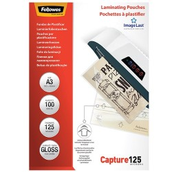 Lamináló fólia Fellowes A/3 125 mic. fényes 100 lap/csomag
