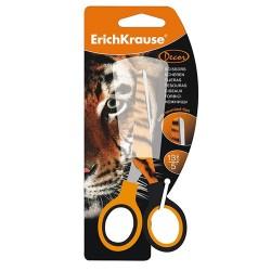 Olló ErichKrause 13 cm iskolai kerek bliszteres Tigris