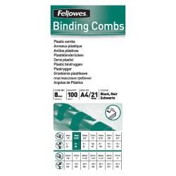Spirál Fellowes 8 mm 21-40 lap fekete
