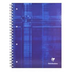Spirálfüzet Clairefontaine Bind´O Block A/4-80 lapos színezett szélű kockás kék