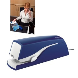 Tűzőgép Leitz 24/6 20 lap elektromos adapteres kék Nexxt 5533
