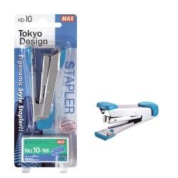 Tűzőgép Max HD-10K No.10 20 lap + tűzőkapocs bliszterben kék