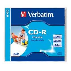 CD-R Verbatim 700 MB írható 52x Datalife vékony tok