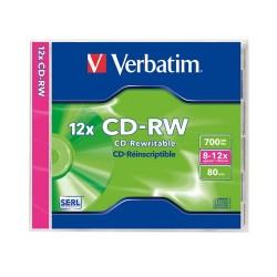 CD-RW Verbatim 700 MB újraírható 8x-10x normál tok