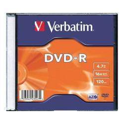 DVD-R Verbatim 4.7 GB írható 16x vékony tok
