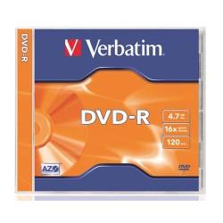 DVD-R Verbatim 4.7 GB írható 16x normál tok