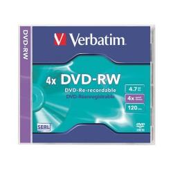 DVD-RW Verbatim 4.7 GB újraírható 4x normál tok