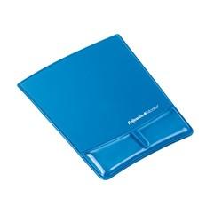 Egéralátét Fellowes Health-V Crystal csuklótámasszal kék