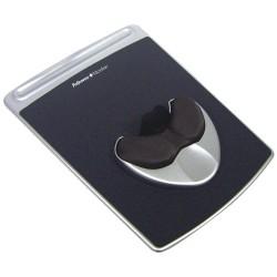 Egéralátét Fellowes Easy Palm Glide géltöltésű csuklótámasszal fekete